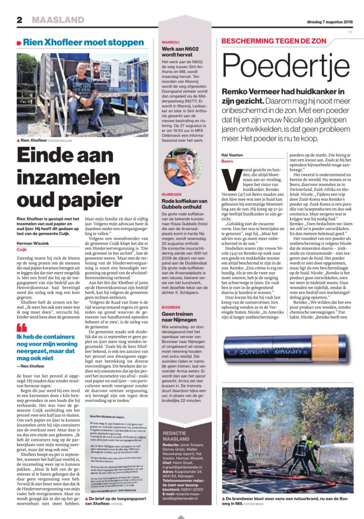 Sunday Brush publicatie De Gelderlander 3