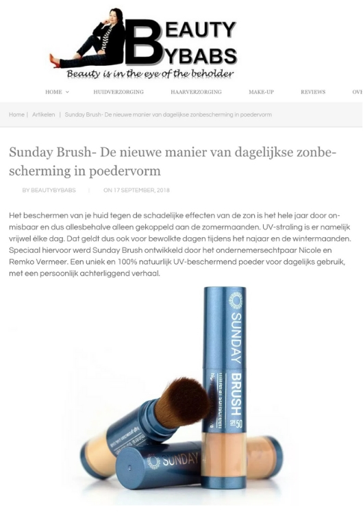 Sunday Brush review Beauty by babs