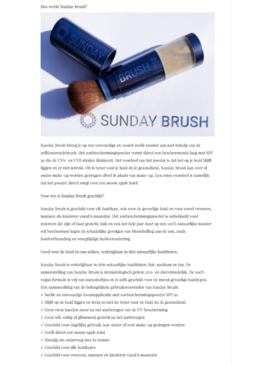 Sunday Brush Beauty by Frieda