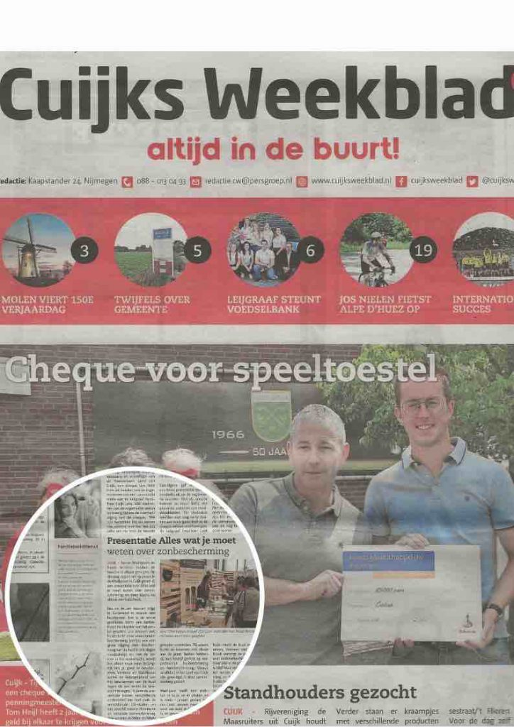 Cuijks Weekblad presentatie Sunday Brush 1