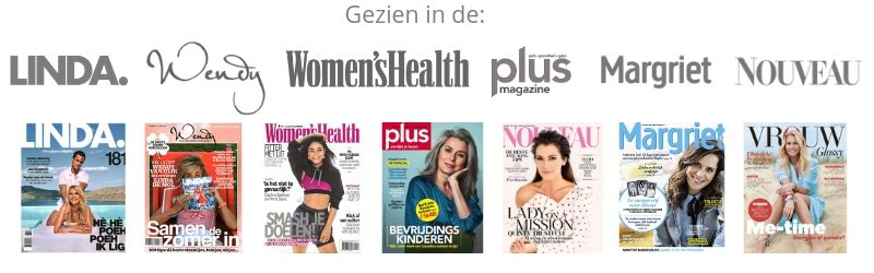 Sunday Brush in de media Linda Wendy Margriet Vrouw Nouveau Women's health Plus magazine