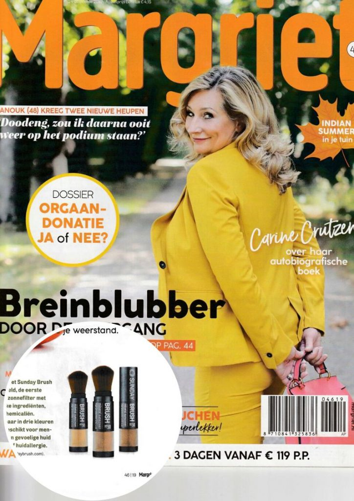 Publicatie Sunday Brush tijdschrift Margriet cover