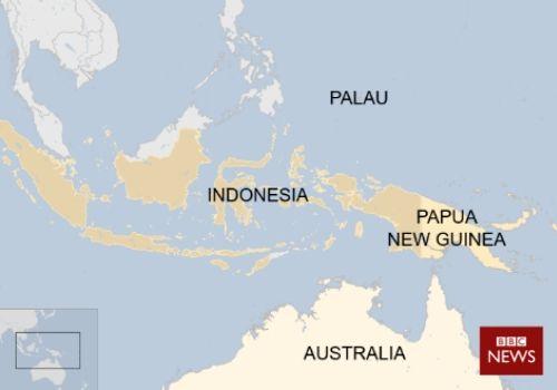 Foto blog bericht- Sunday Brush - Palau on world map