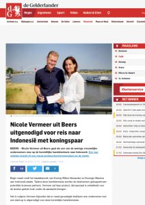 Publicatie Gelderlander Sunday Brush Handelsmissie Indonesië