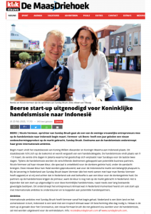 Publicatie Kliknieuws handelsmissie Sunday Brush