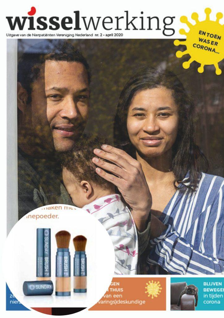 Cover Nierpatient ontwikkeld nieuw zonbeschermingsproduct NVN Wisselwerking - Sunday Brush