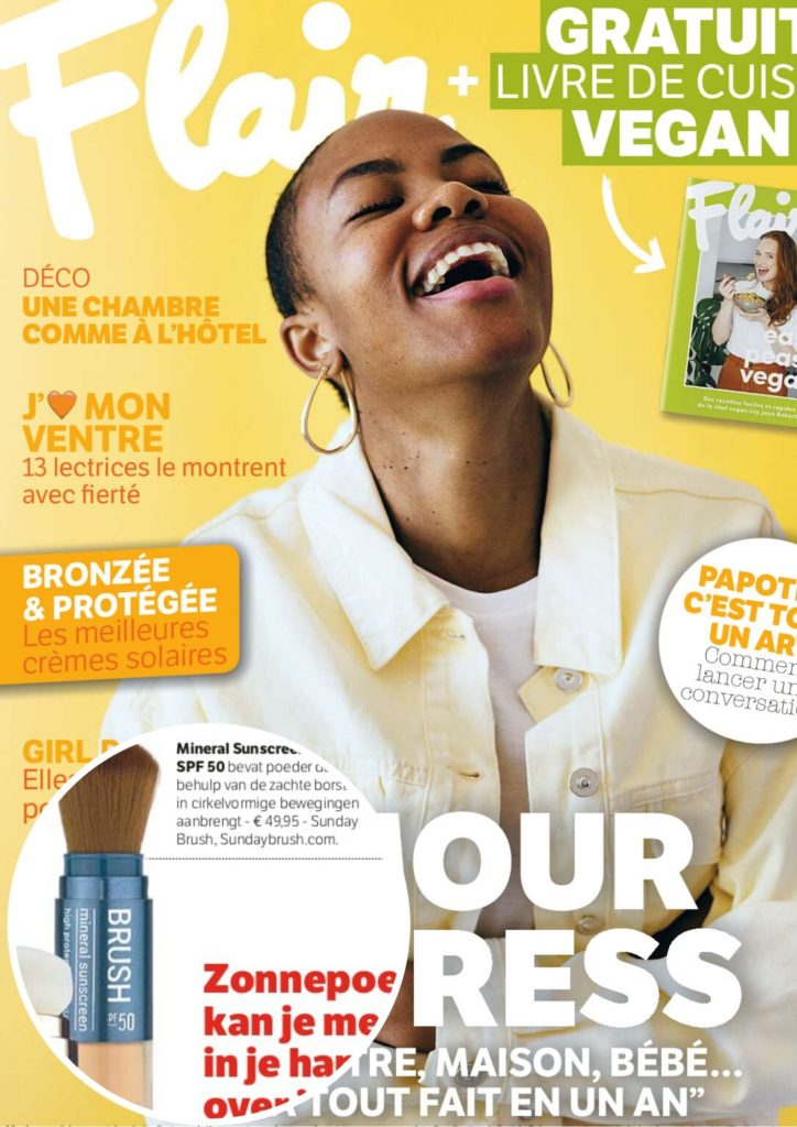 Cover Publication Flair Belgique - Sunday Brush