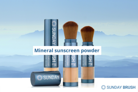 Blogfoto Mineral sunscreen powder - Sunday Brush