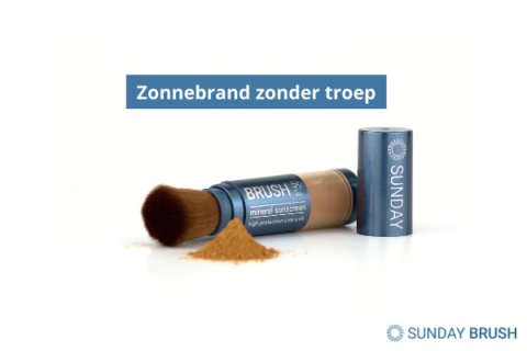 Blogfoto Zonnebrand zonder troep - Sunday Brush