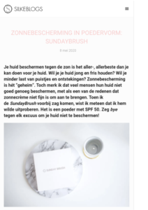 Publicatie Silke blogs - Sunday Brush 1