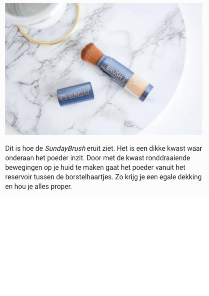 Publicatie Silke blogs - Sunday Brush 4